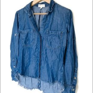 Anthropologie Cloth & Stone Small Fringe Button Up